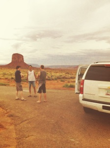 Road trippin' through Arizona with my Swiss friends.